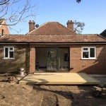 Groundfloor extension with decking