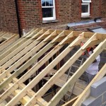 Timber for roof in place