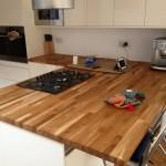 Wooden Kitchen work top installation